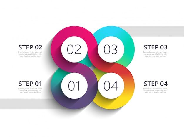 Kronkelende weg moderne infographic sjabloon met een gefaseerde structuur
