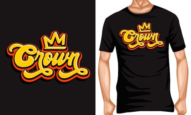 Kroon belettering typografie citaten