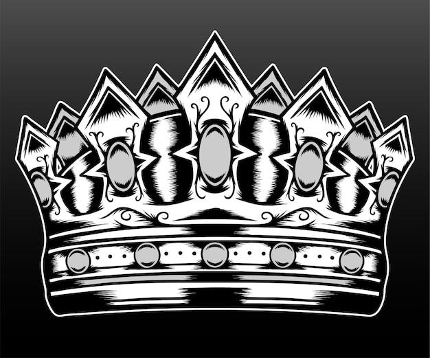 Kroon geïsoleerd op zwart