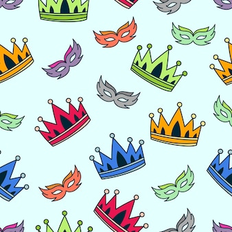 Kroon patroon achtergrondontwerp