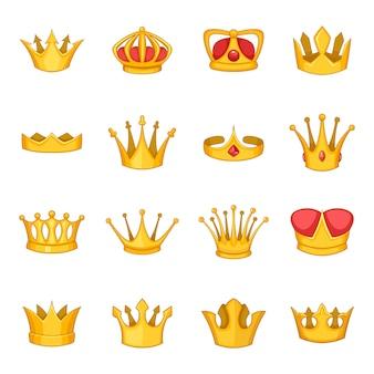 Kroon pictogrammen instellen