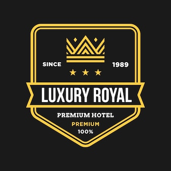 Kroon vector logo embleem badge