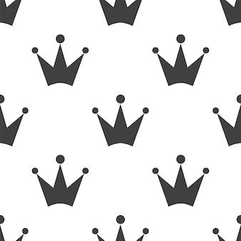 Kroon, vector naadloos patroon, bewerkbaar kan worden gebruikt voor webpagina-achtergronden, opvulpatronen