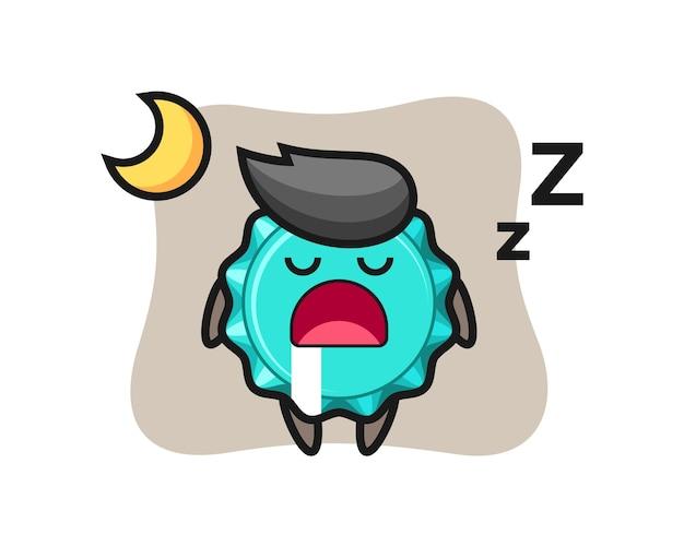 Kroonkurk karakter slapen 's nachts