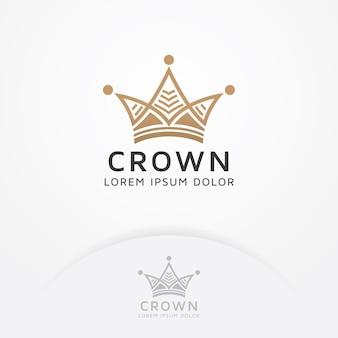 Kroonlogo ontwerp