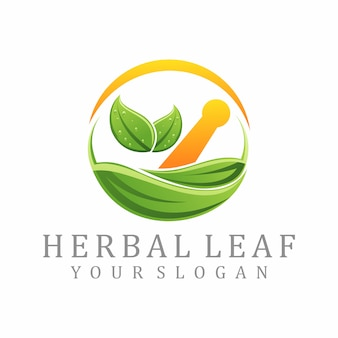 Kruiden blad logo
