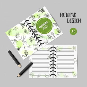 Kruiden en specerijen culinair boek. kruid, plant, specerijen hand getrokken notities ontwerp.