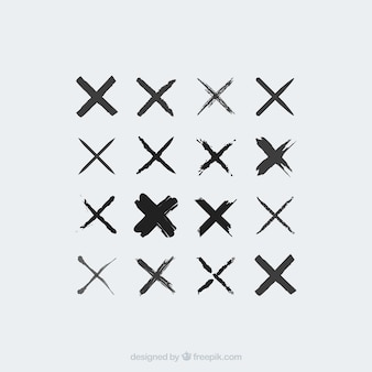 Kruis iconen verzameling