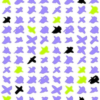 Kruis trendy naadloos patroon. vectorillustratie van 80s stijl tegel hipster achtergrond.