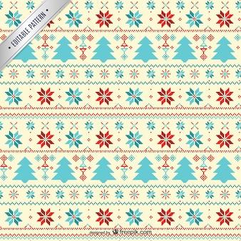 Kruissteek stijl patroon van kerstmis