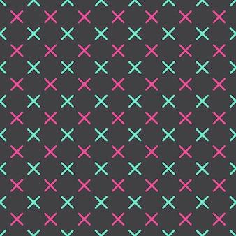 Kruist patroon in retro-stijl uit de jaren 80, 90. abstracte geometrische achtergrond