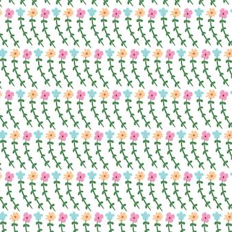 Krullend kleurrijk bloem naadloos patroonontwerp