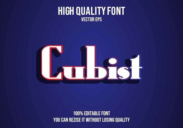 Kubistisch bewerkbaar teksteffect