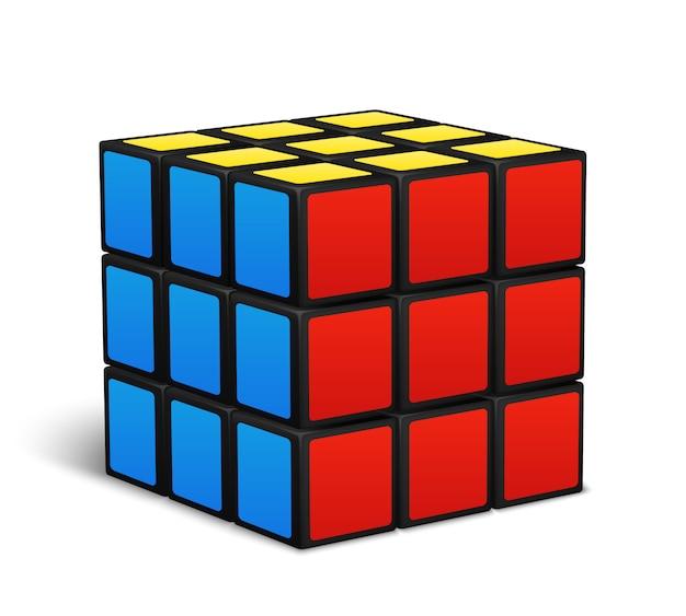 Kubus speelgoed puzzel vectorillustratie