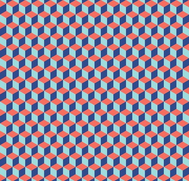 Kubussen patroon. abstracte geometrische achtergrond. luxe en elegante stijlillustratie
