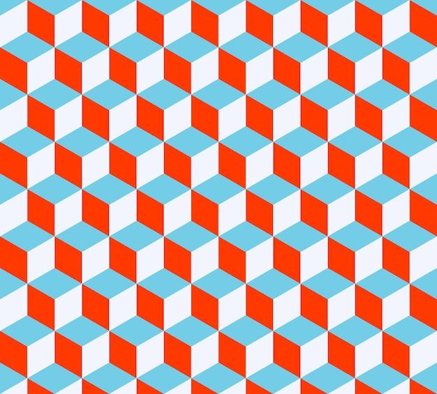 Kubussen patroon. geometrische eenvoudige achtergrond. creatieve en elegante stijlillustratie