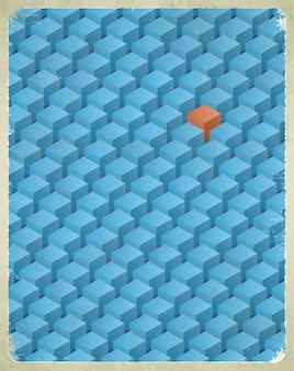 Kubussen patroon illustratie