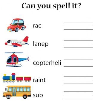 Kun je het transport spellen?