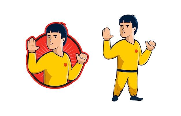 Kung fu mascotte logo