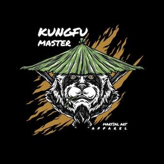 Kung fu panda illustratie