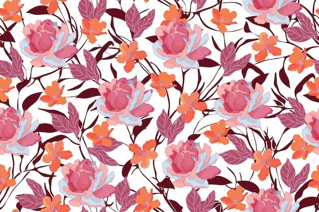 Kunst bloemen naadloos patroon