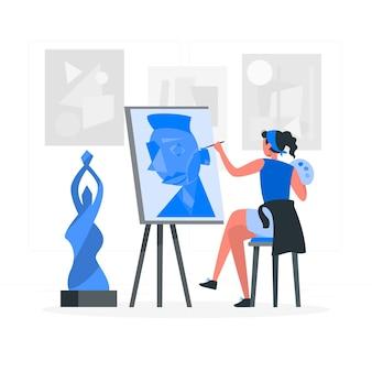 Kunst concept illustratie maken