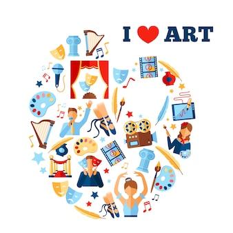 Kunst concept illustratie