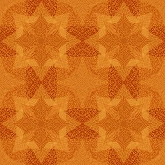 Kunst met abstract geel lineair naadloos patroon