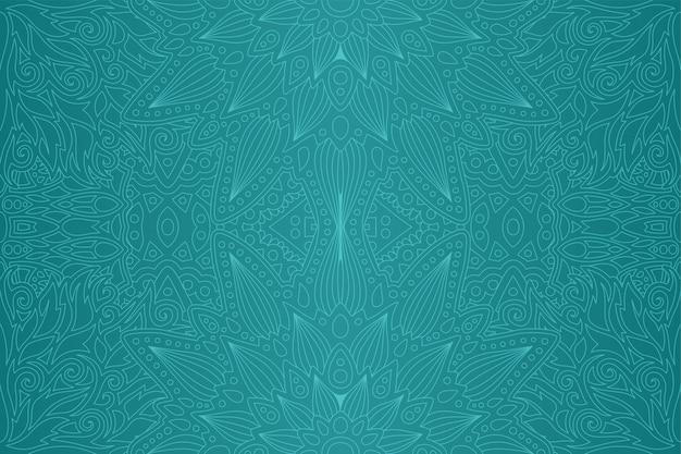 Kunst met blauw abstract naadloos lineair patroon