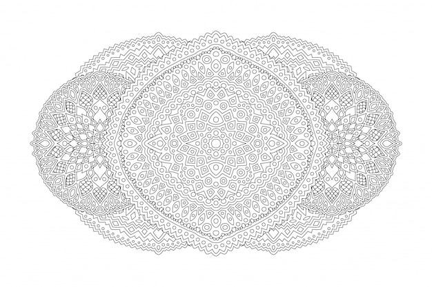Kunst voor het kleuren van de boekpagina met lineair patroon