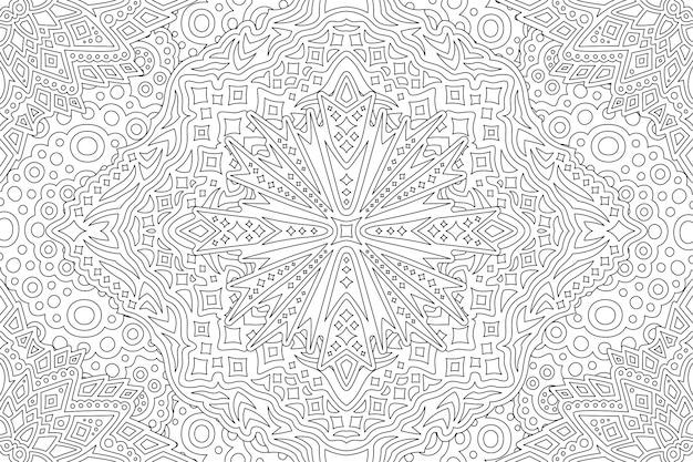 Kunst voor het kleuren van de boekpagina met sterrenpatroon