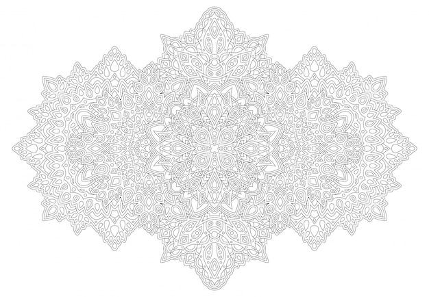 Kunst voor het kleuren van de fotoboekpagina met gedetailleerd patroon