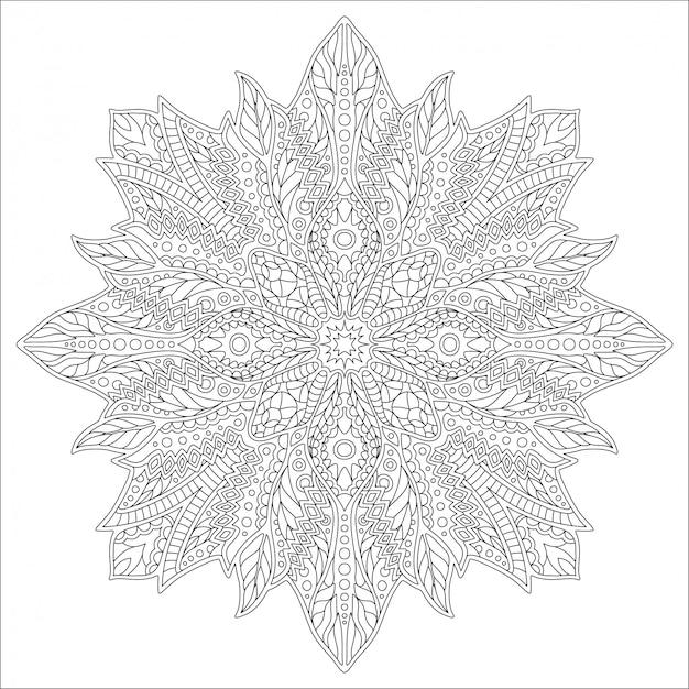 Kunst voor volwassen kleurboek met lineair patroon