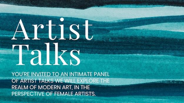 Kunstenaar praat aquarel sjabloon