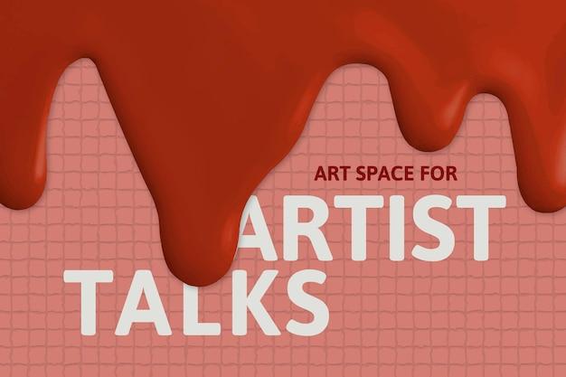 Kunstenaar praat sjabloon vector creatieve verf druipende advertentiebanner