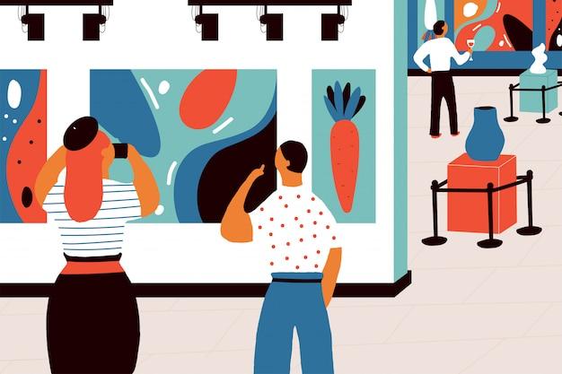 Kunstgalerie concept vectorillustratie.