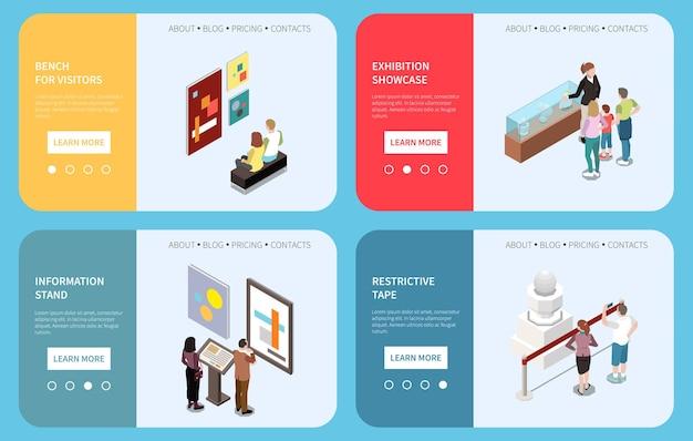 Kunstgalerie webbanners illustratie