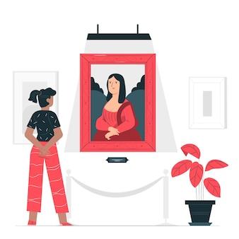 Kunstliefhebber concept illustratie