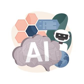 Kunstmatige intelligentie abstracte illustratie.