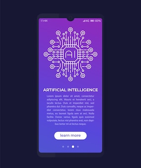 Kunstmatige intelligentie, ai in mobiele app, ui-ontwerp