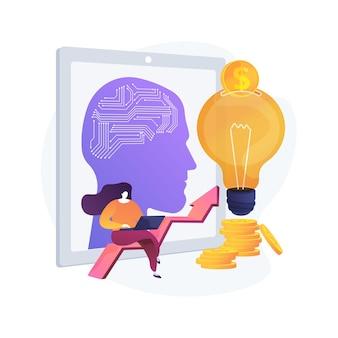 Kunstmatige intelligentie bij het financieren van abstracte conceptillustratie