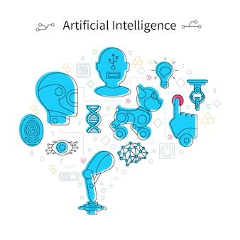 Kunstmatige intelligentie concept