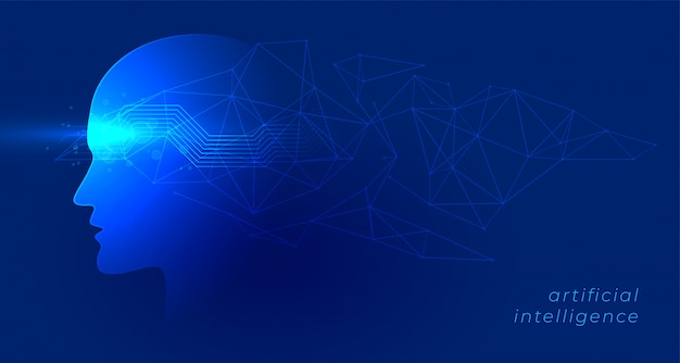 Kunstmatige intelligentie en machine het leren de achtergrond van de conceptentechnologie