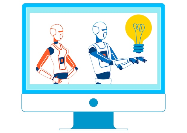 Kunstmatige intelligentie hosting educatieve show