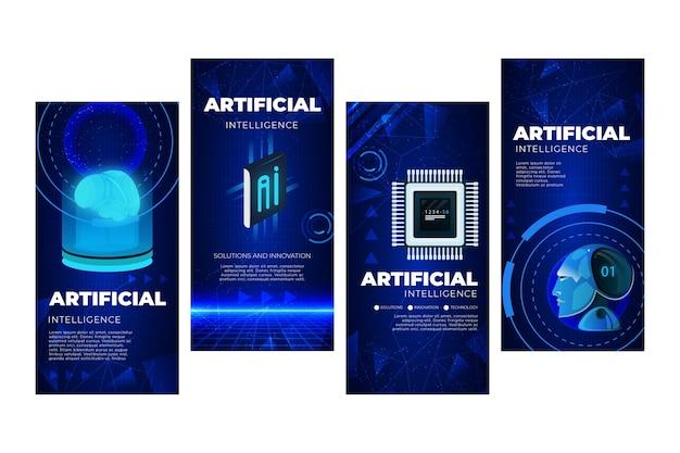 Kunstmatige intelligentie instagram-verhalencollectie