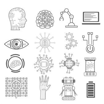 Kunstmatige intelligentie pictogrammen