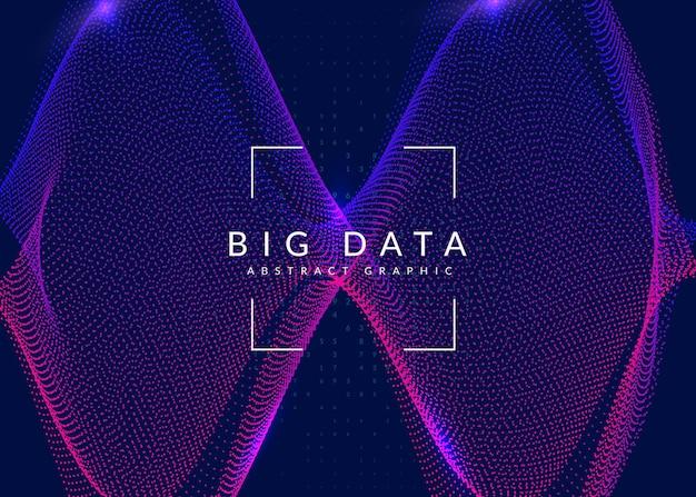 Kunstmatige intelligentie technische achtergrond. digitale technologie, deep learning en big data-concept. abstracte visual voor systeemsjabloon. moderne kunstmatige intelligentie tech achtergrond.