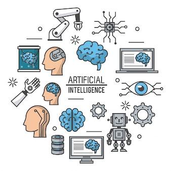 Kunstmatige intelligentie technologie illustratie
