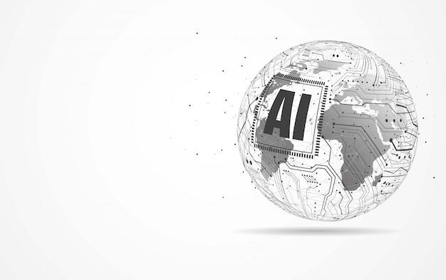 Kunstmatige intelligentie wereldwijde netwerkverbinding