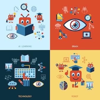 Kunstmatige intelligentie zelflerende icoonverzameling